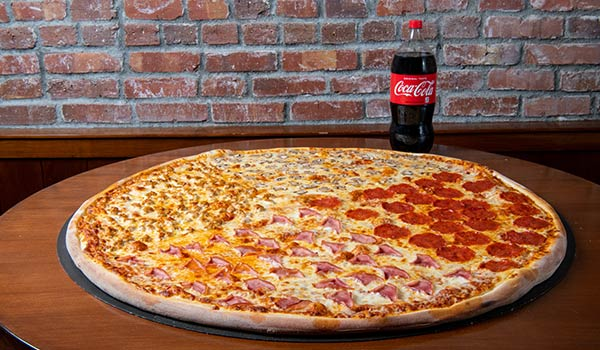 Big Papa's One Topping Pizza & Soda